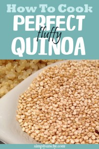 Cooking quinoa is very easy and quick! I like cooking it in a big batch and then use it throughout the week. | Healthy Food Recipes | simplyanchy.com