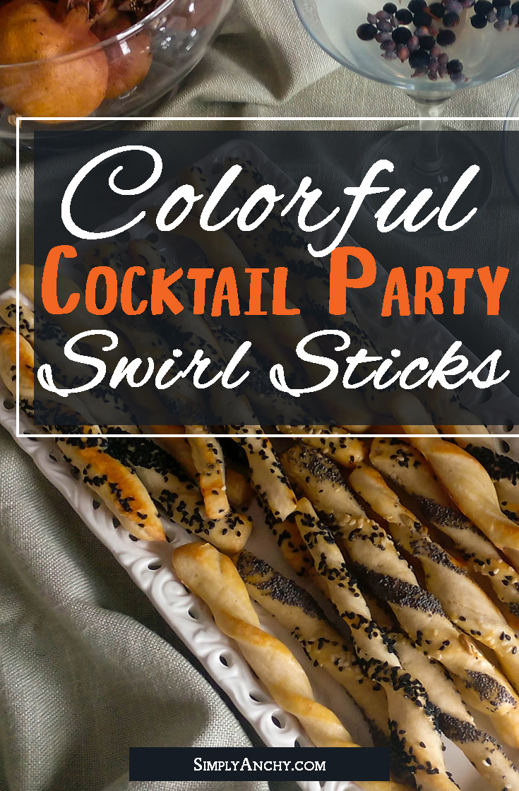 Are you looking for some fun way to decorate your dinner table? These Cocktail Party Swirl Sticks are very fun and colorful and incredibly DELICIOUS! They are going to be the stars of every party! You should really make this recipe! | #cocktailparty #swirlsticks #partyfoodrecipe #partyfood #bitesizefood | simplyanchy.com