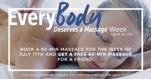 EveryBody Deserves a Massage Week - July 16-22, 2017