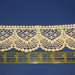 Lace Trim Bubble Natural
