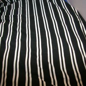 Rayon Spandex Black Ivory Stripe