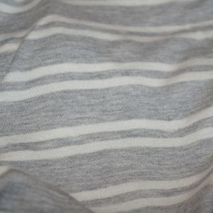 Rayon Spandex Heather Gray Ivory Stripe