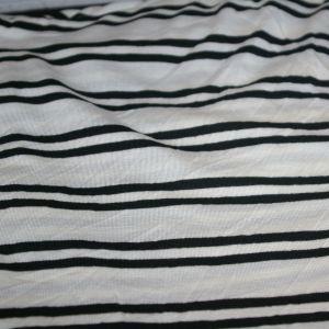Rayon Spandex Ivory Black