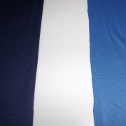 Fabric on left is Navy. Fabric on right is cobalt