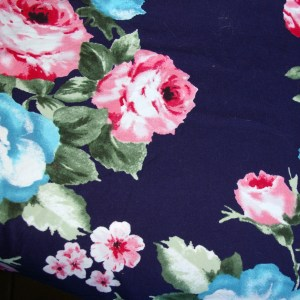 Navy pink blue rose dbp