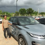 Range Rover and woman