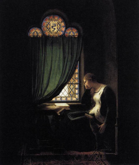 Valentine of Milan Mourning her Husband, the Duke of Orléans --Fleury-François Richard