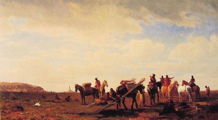 Indians Traveling Near Fort Laramie - Albert Bierstadt