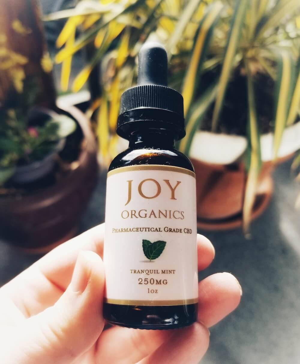 Joy Organics Full Spectrum Hemp CBD Oil Zero THC Tranquil Mint Flavor