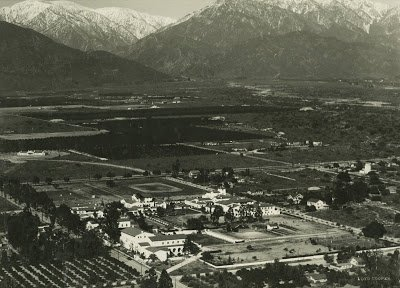 Aerial view of Claremont California 1930s - T.S. Eliot in Love and Los Angeles: A Photo Essay