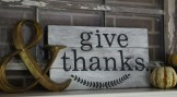 'give thanks' sign