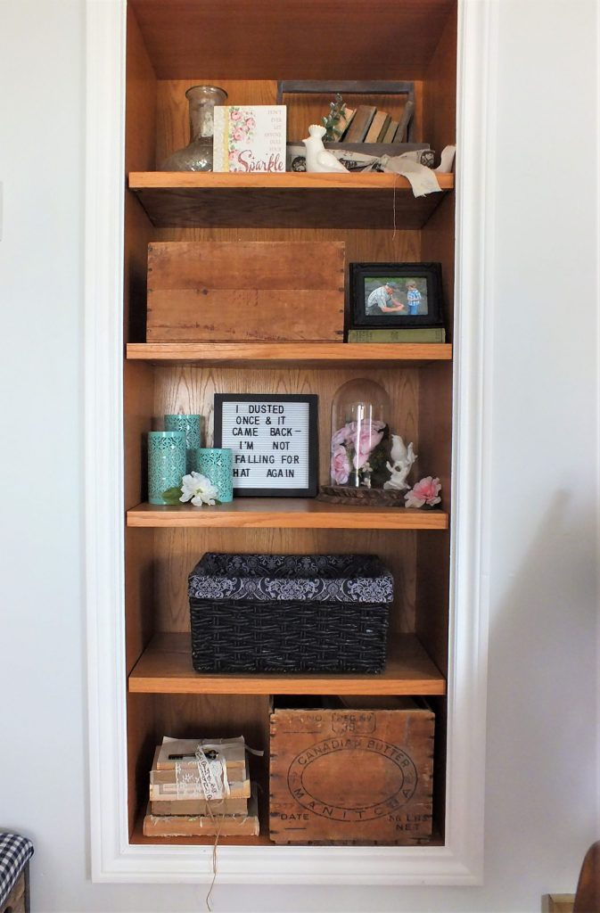 using basket and crates to store toys in living room