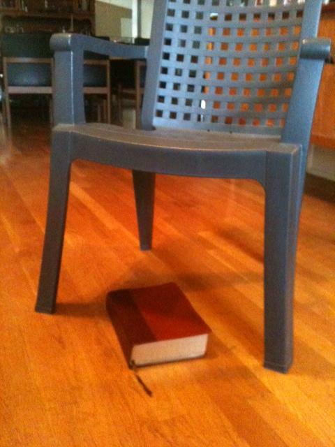 Bible chair