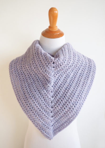Easy Everyday Triangle Crochet Scarf