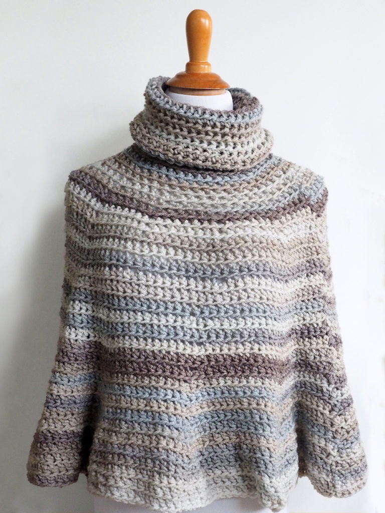 Hooded Crochet Poncho Pattern