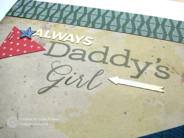 Daddy's Girl layout title krista_ritskes