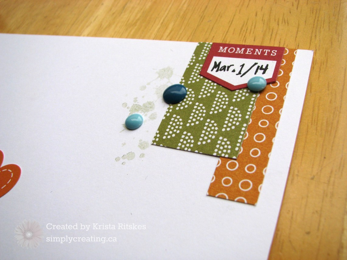 Sweet Goodnight Kisses Layout by Krista Ritskes close up 1