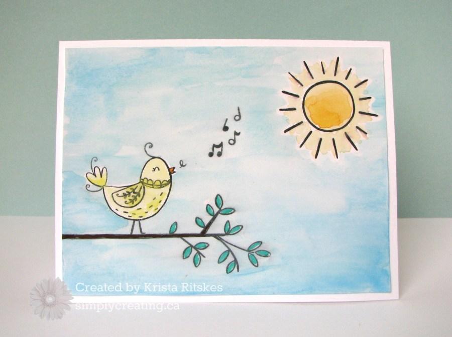 Mar SOTM bird card by Krista Ritskes #simplycreating