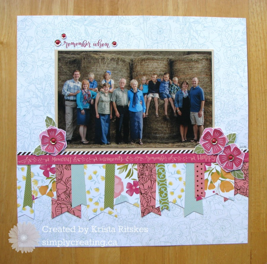 Happy Times Layout by Krista Ritskes #simplycreating