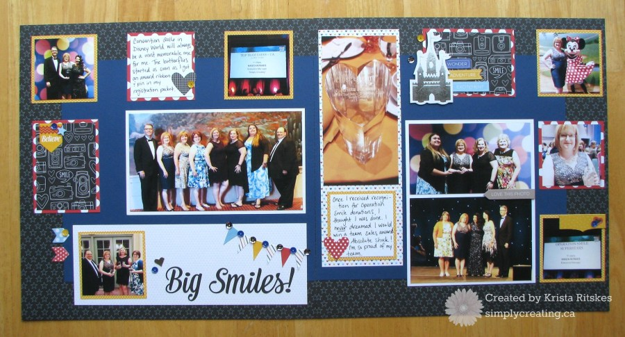 Magical Convention layout by Krista Ritskes #simplycreating