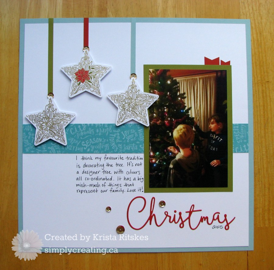 Christmas layout by Krista Ritskes #simplycreating