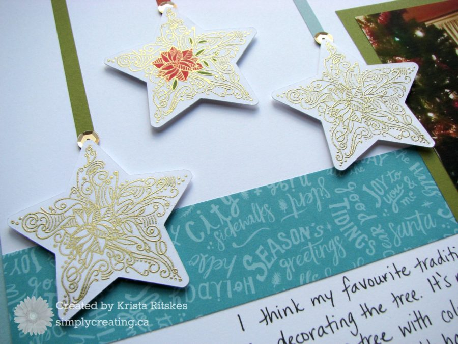 Christmas layout close up by Krista Ritskes #simplycreating