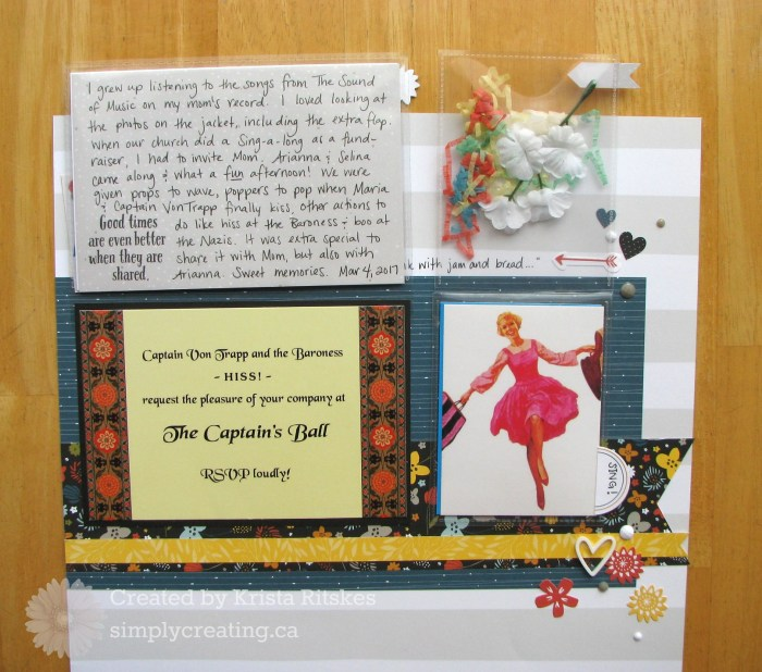 Sound of Music layout flip flap by Krista Ritskes #simplycreatingcrafts