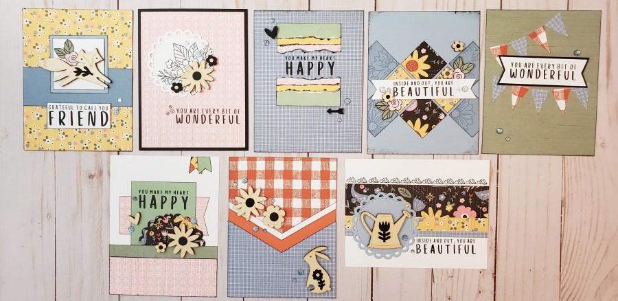 Hillside Cottage workshop cards