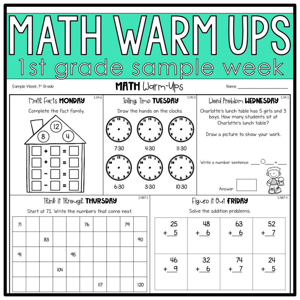 Quick Ideas For Spiral Review Math Warm Ups