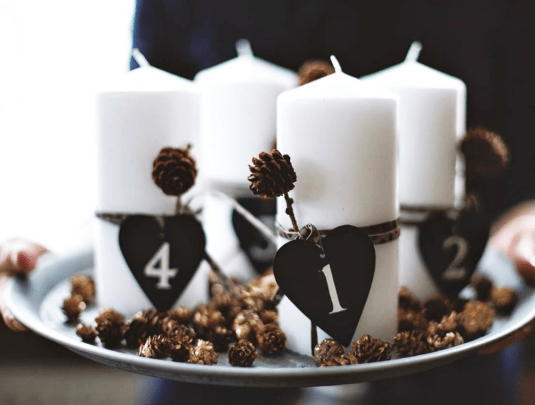 D.I.Y Advent candle decoration
