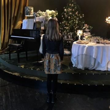 Royal Copenhagen Christmas tables.