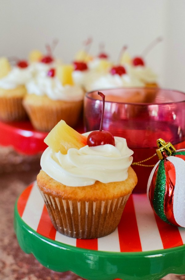 Pineapple Upside Down Inspired Cupcakes - Simply {Darr}ling