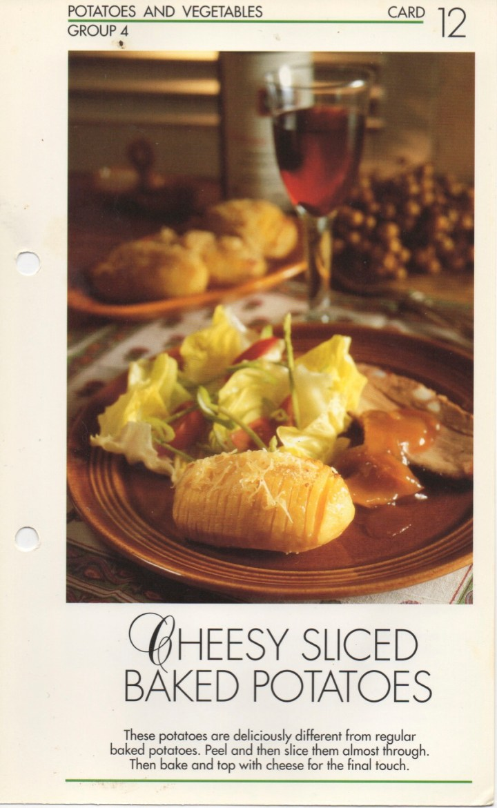 4-12 Cheesy Sliced Baked Potatoes