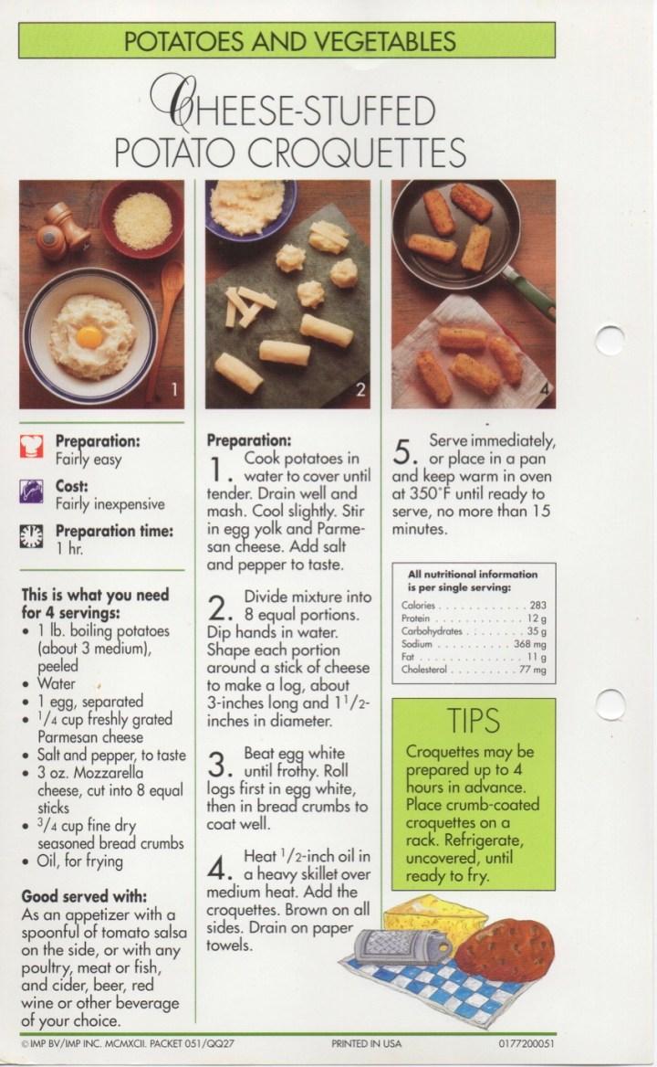 4-30 Cheese-Stuffed Potato Croquettes1