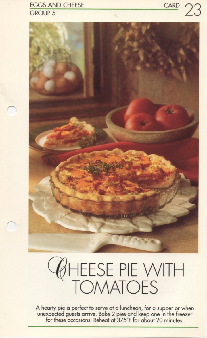 5-23 Cheese Pie with Tomatoes