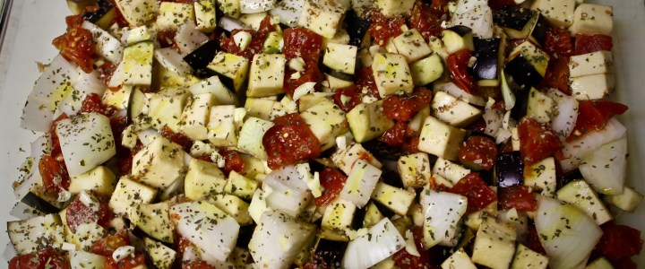 4-1: Eggplant, Onion and Tomato Bake