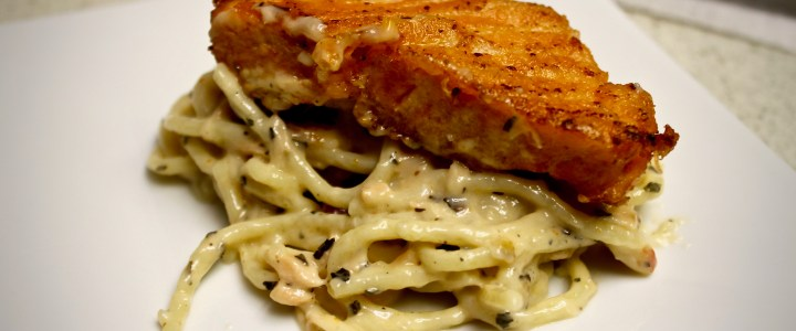 12-9: Pasta with Salmon and Basil
