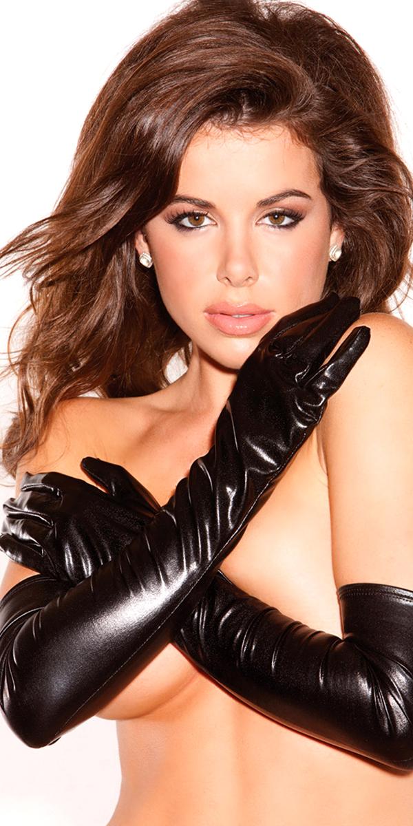 opera length vinyl gloves sexy womens