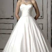 a-line silk chiffon satin wedding dress sexy womens bridal gowns