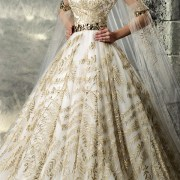 embroidered v-neck tulle vintage wedding dress sexy womens bridal gowns