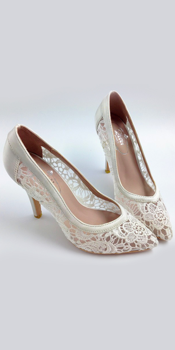 3 inch bridal pumps with pointed toe sexy womens bridal accessories