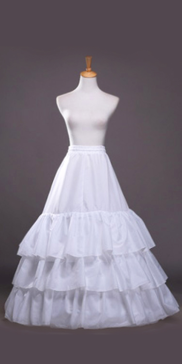 3 layered a-line floor length petticoat sexy womens bridal accessories