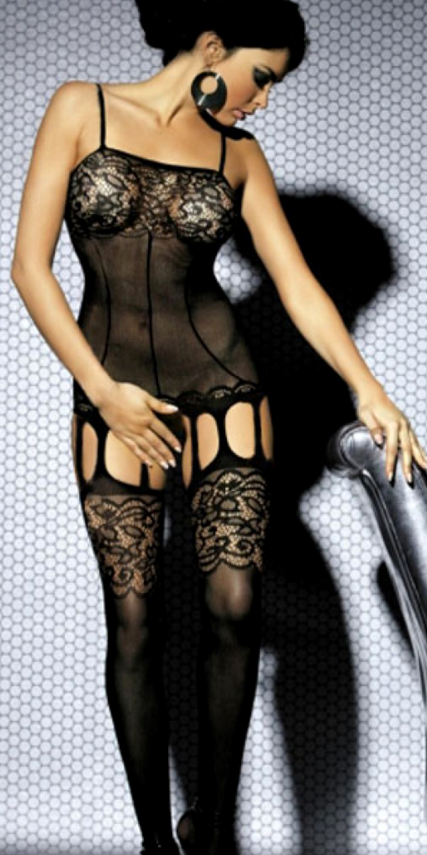 black intimate lace floral bodystocking sexy womens lingerie