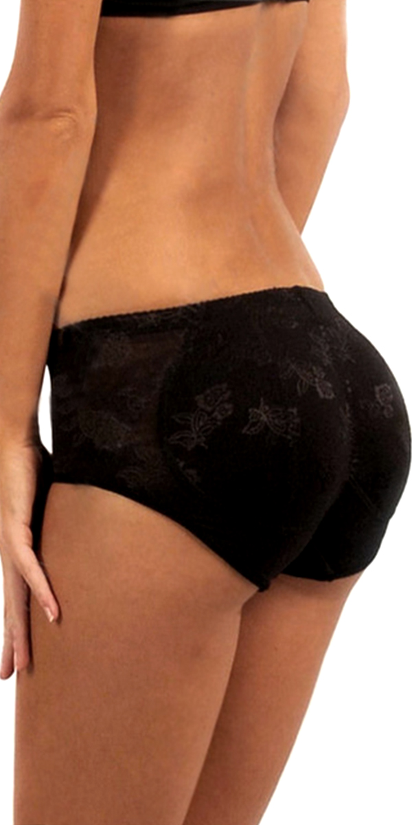 low-rise butt enhancer lace panties with removable padding sexy womens underwear
