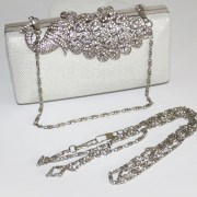 peacock crystal bridal clutch bag with chain strap womens wedding accessories