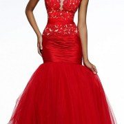 red floral lace tulle prom dress sexy womens lingerie