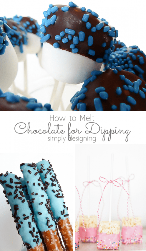 How to Melt Chocolate for Dipping | Melt Chocolate the Right Way | How to Melt Chocolate Chips for Dipping | Melt Chocolate | I am sharing all of my tips and tricks for how to melt chocolate for dipping so that it turns out perfectly every single time!