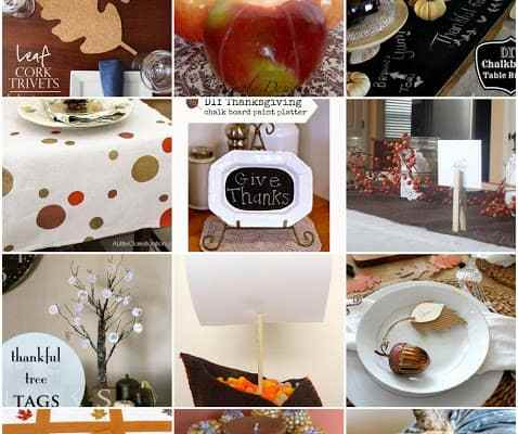 12 DIY Thanksgiving Center Pieces