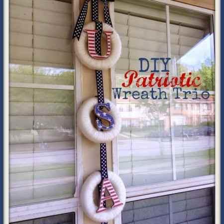DIY Patriotic Wreath Trio