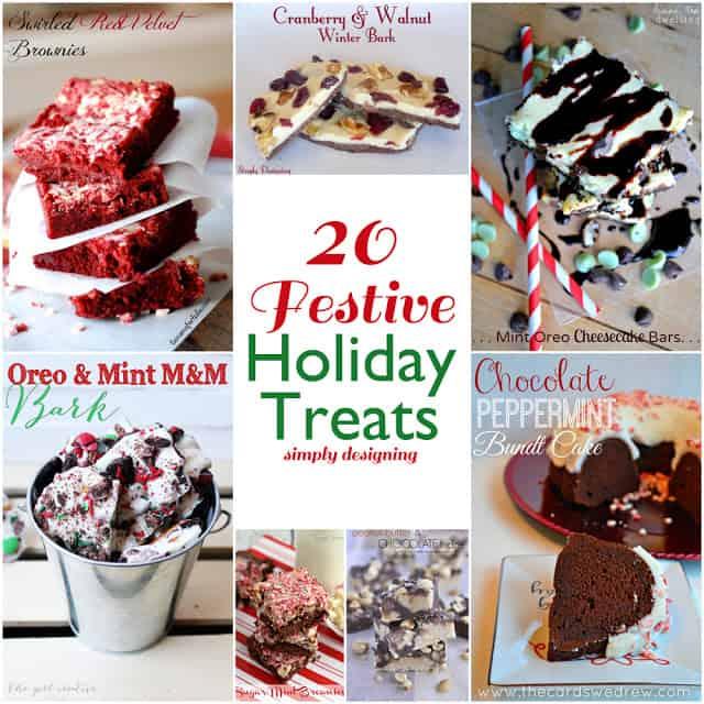 20 Festive Holiday Treats | #holidays #recipes #holidayrecipes #whimsywednesdays #christmas